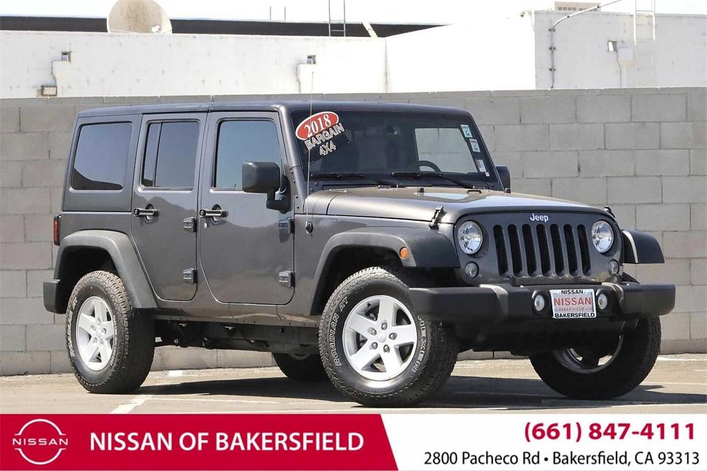 Used 2018 Jeep Wrangler JK Unlimited Sport in Bakersfield, CA