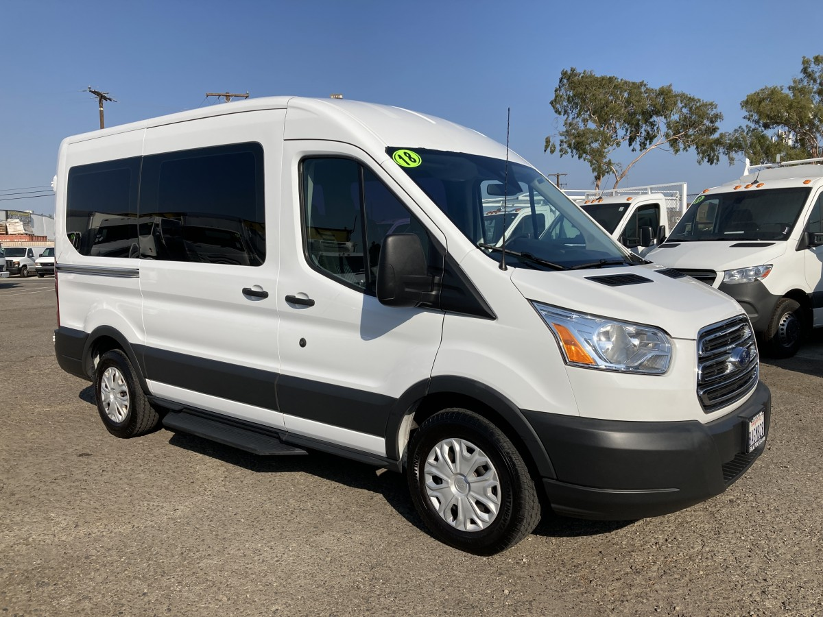 Used 2018 Ford Transit-150 Mid Roof 8 Passenger Van XLT in Fountain Valley, CA