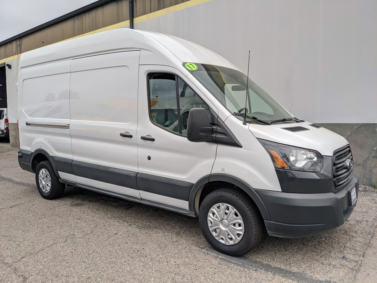 Used 2017 Ford Transit-250 Extended High Roof Cargo Van with Bulkhead in Fountain Valley, CA