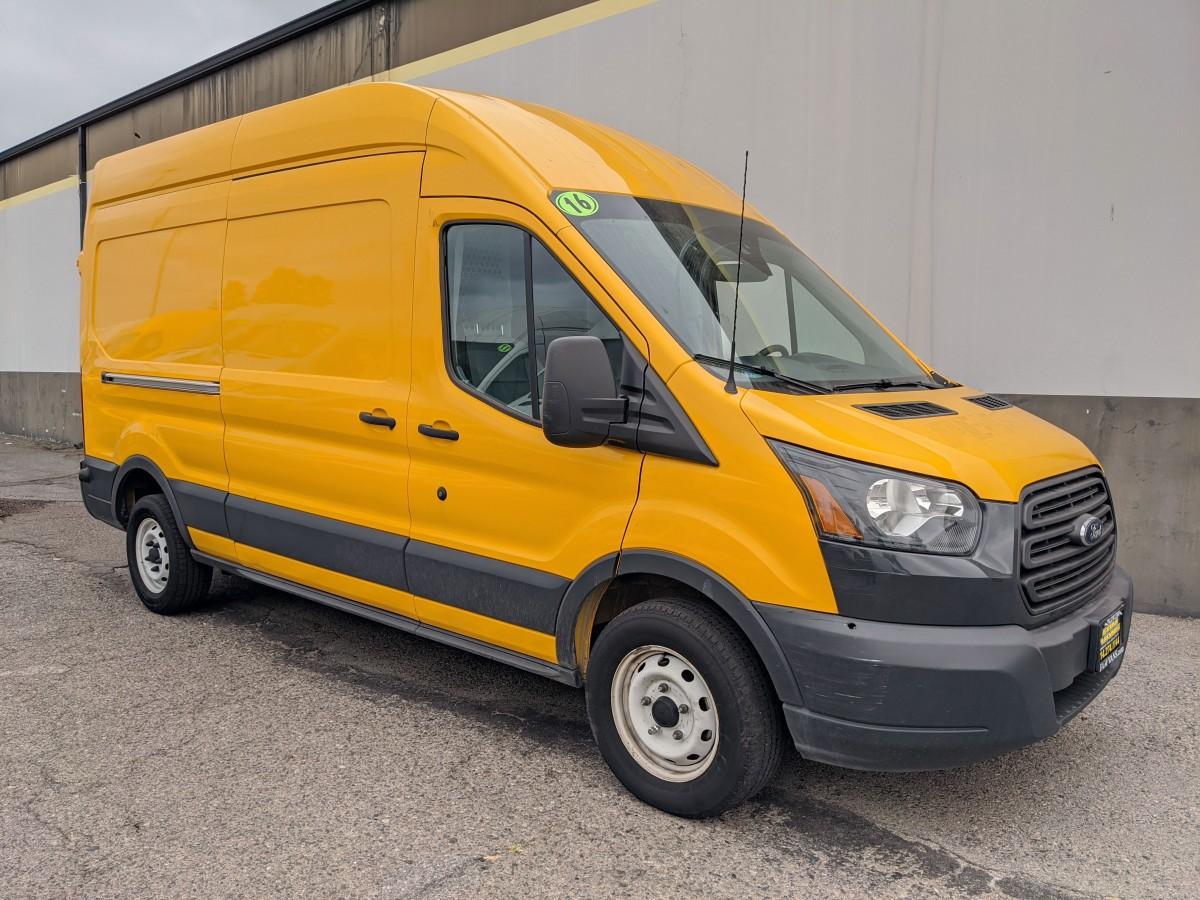 Used 2016 Ford Transit-250 Extended High Roof Cargo Van with Bulkhead in Fountain Valley, CA