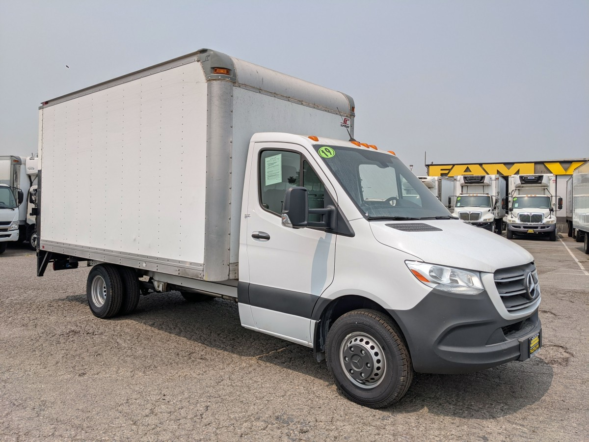Used 2019 Mercedes-Benz Sprinter 3500 14FT Box Truck with Liftgate DIESEL in Fountain Valley, CA