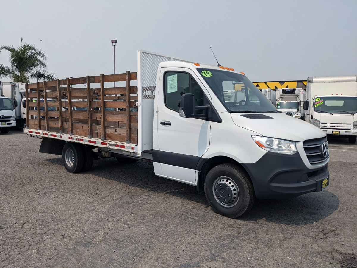 Used 2019 Mercedes-Benz Sprinter 3500 16FT Stake Bed Truck DIESEL in Fountain Valley, CA