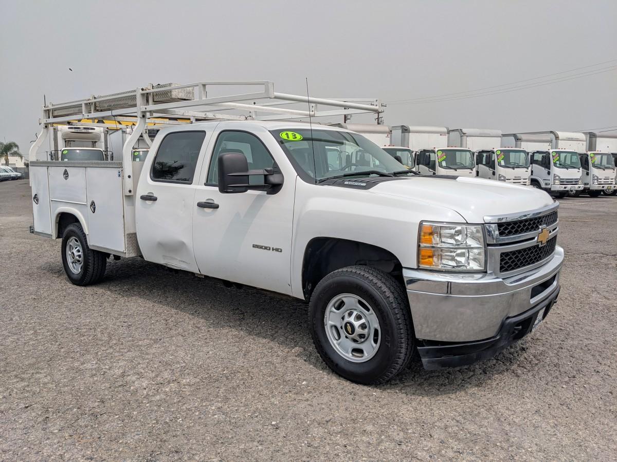 Used 2013 Chevrolet Silverado 2500HD Crew Cab Utility Truck 4WD 4x4 in Fountain Valley, CA