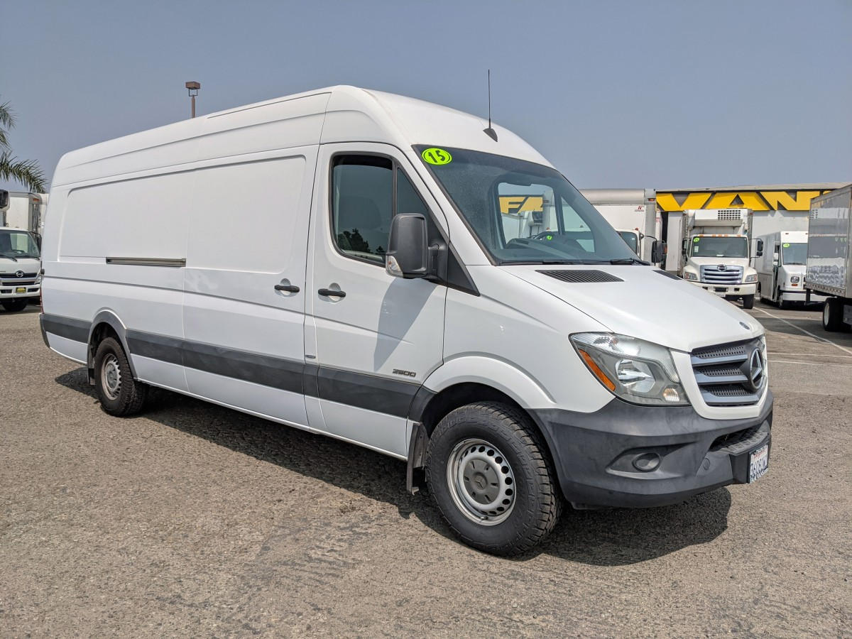 Used 2015 Mercedes-Benz Sprinter 2500 Extended High Roof Cargo Van DIESEL with Bulkhead in Fountain Valley, CA
