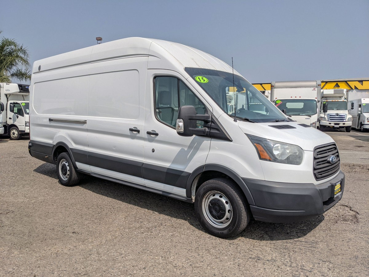 Used 2015 Ford Transit-350 Extended Long High Roof Cargo Van with Bulkhead in Fountain Valley, CA