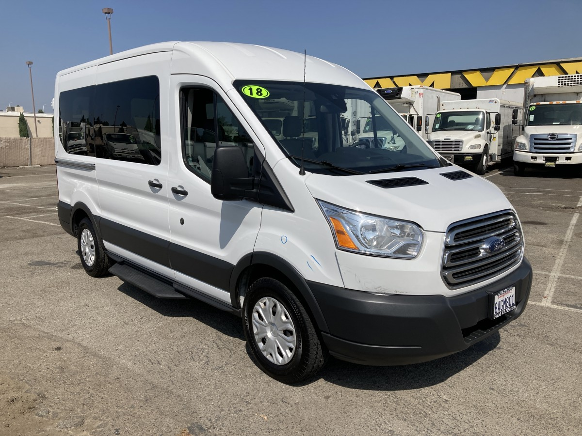 Used 2018 Ford Transit-150 Mid Roof Passenger Van in Fountain Valley, CA