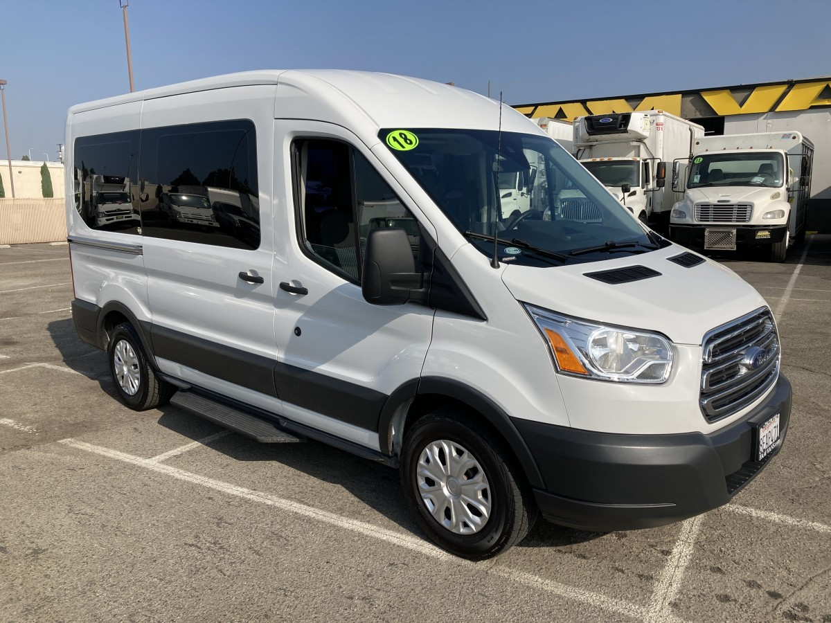 Used 2018 Ford Transit-150 Mid Roof Passenger Van XLT in Fountain Valley, CA