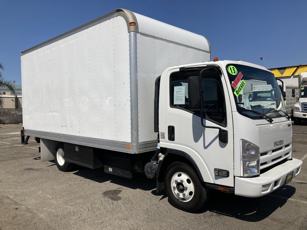 Used 2013 Isuzu NPR 16FT Box Truck with Liftgate DIESEL in Fountain Valley, CA