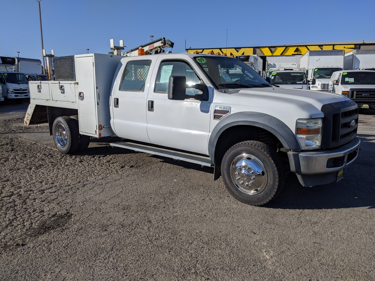Used 2009 Ford F-550 Utility Crane Truck DIESEL in Fountain Valley, CA