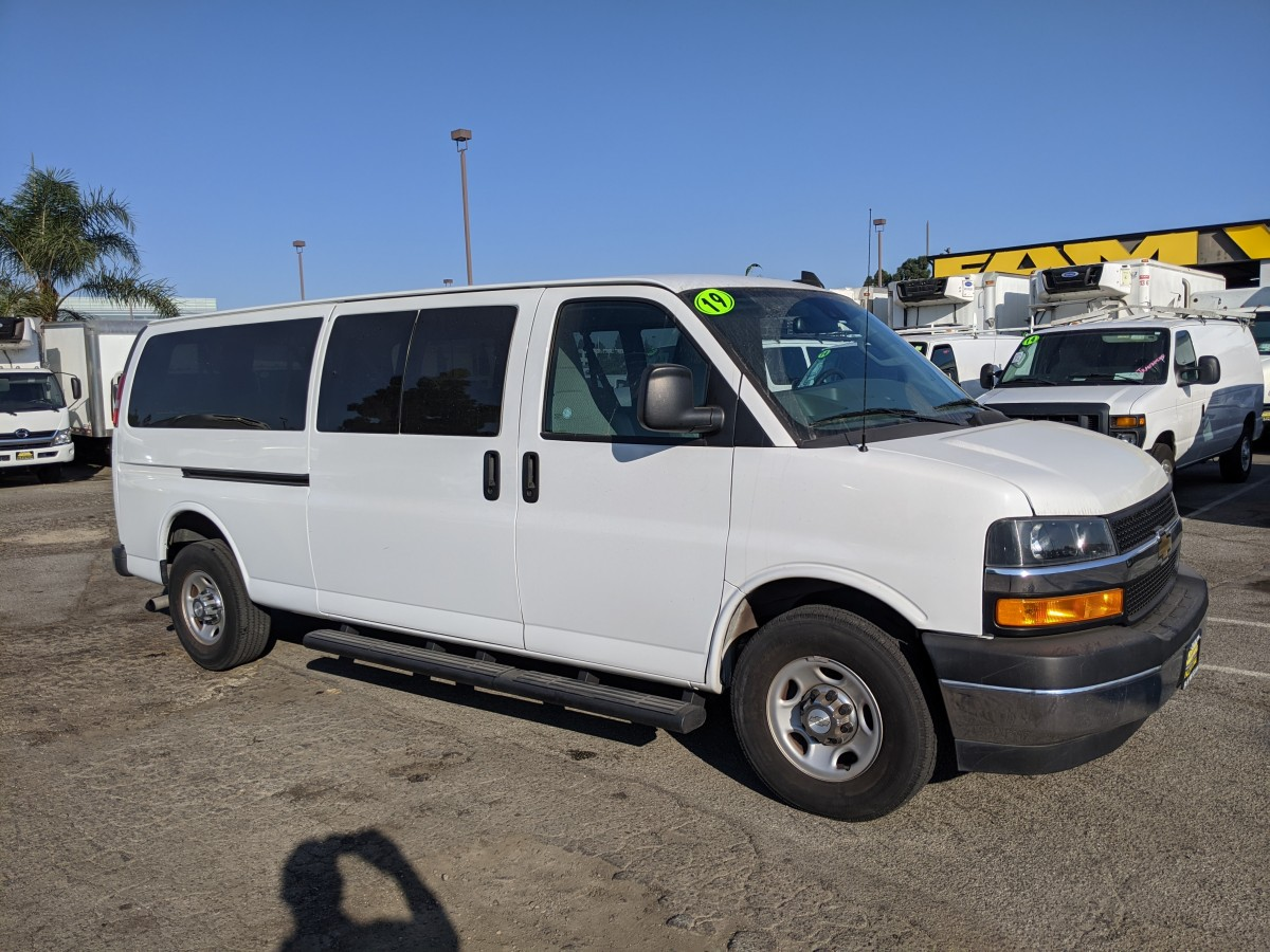 Used 2019 Chevrolet Express 3500 Extended Passenger Van in Fountain Valley, CA