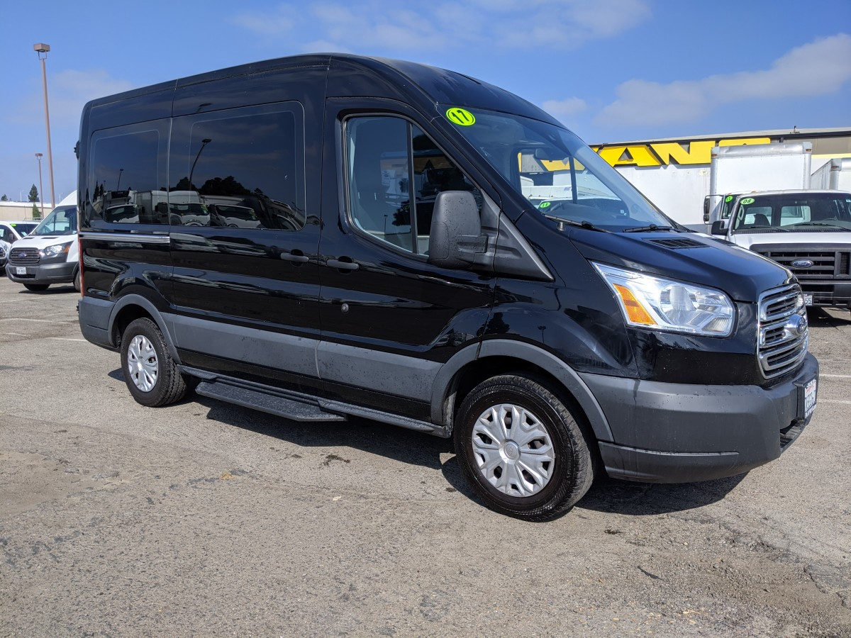 Used 2017 Ford Transit-150 Mid Roof Passenger Van in Fountain Valley, CA