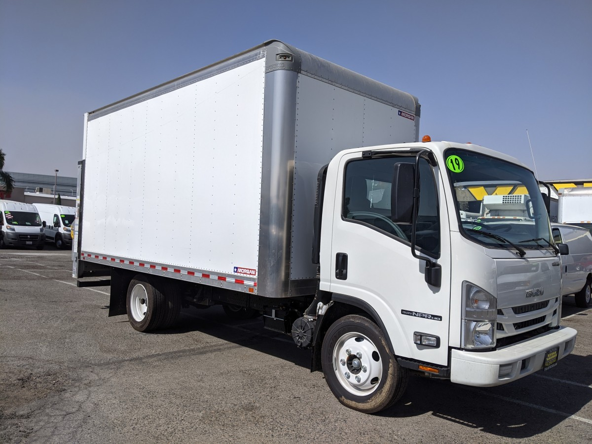 Used 2019 Isuzu NPR HD 16FT Box Truck with Liftgate in Fountain Valley, CA