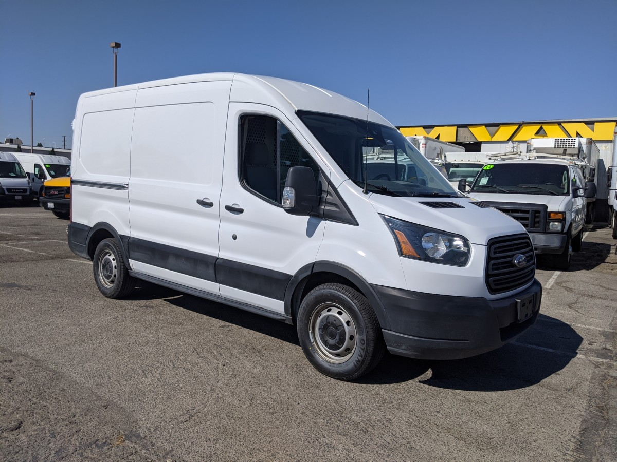 Used 2015 Ford Transit-150 Mid Roof Cargo Van with Bulkhead in Fountain Valley, CA
