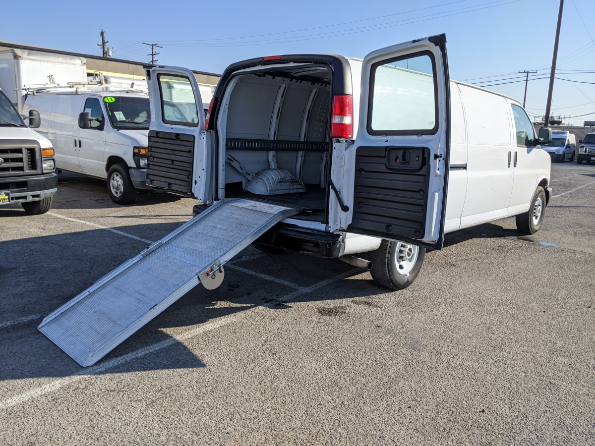 Used 2015 GMC Savana 3500 Extended Cargo Van with Loading Ramp DING AND DENT in Fountain Valley, CA