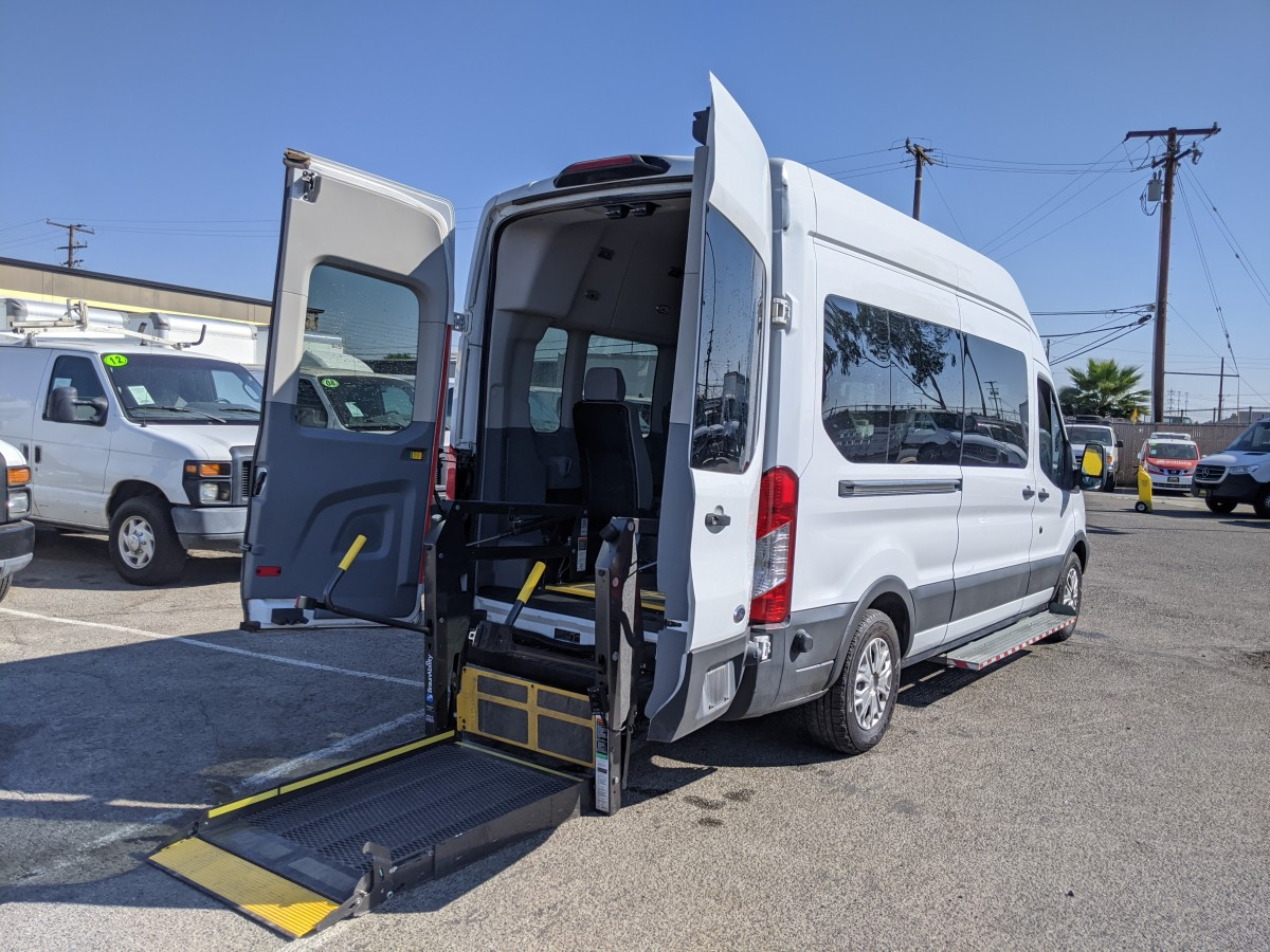 Used 2018 Ford Transit-350 Extended High Roof Wheelchair Access Handicap Van in Fountain Valley, CA