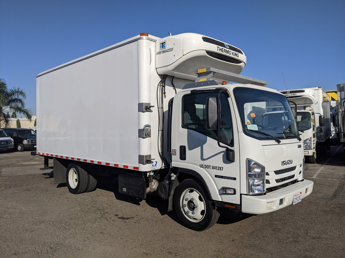 Used 2019 Isuzu NRR 16FT Refrigeration Reefer Box Truck DIESEL in Fountain Valley, CA