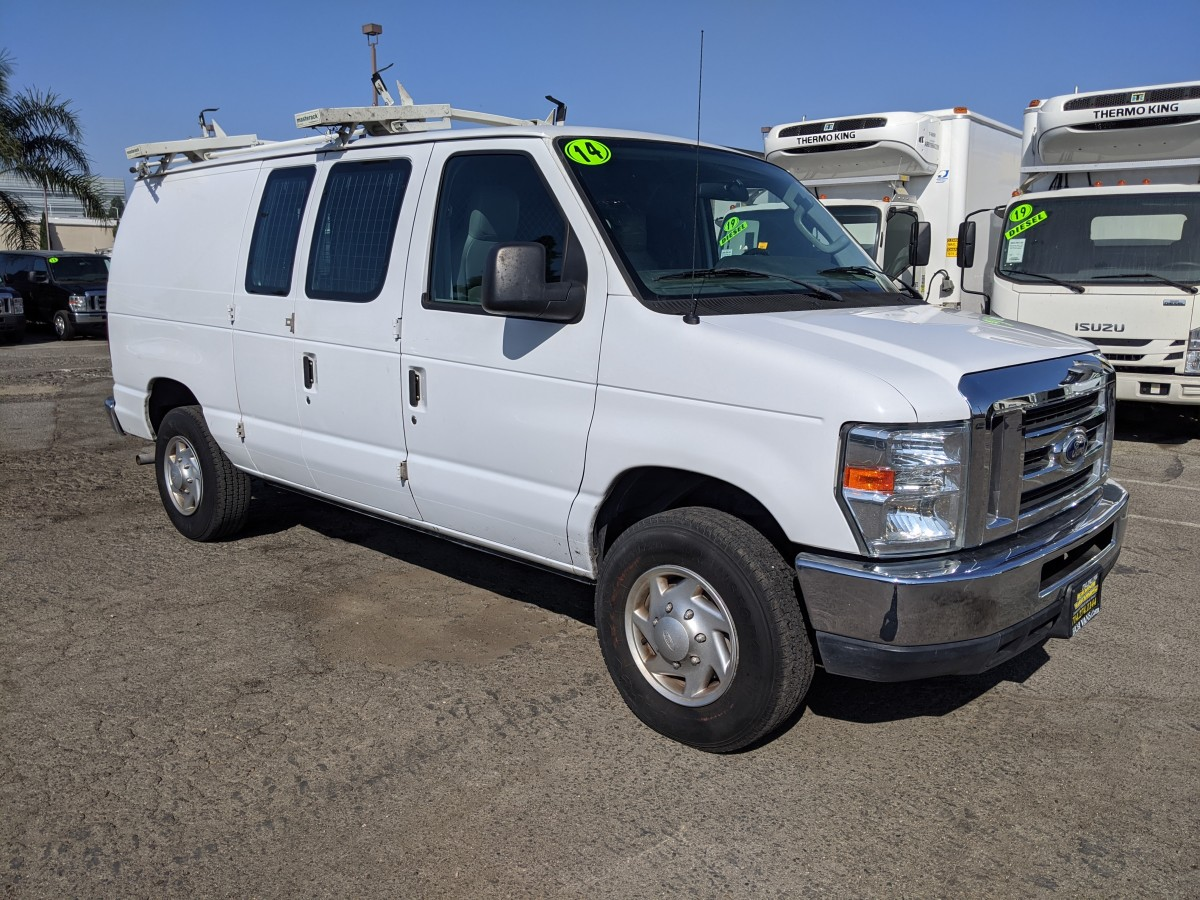 Used 2014 Ford E-250 Cargo Van with Bulkhead in Fountain Valley, CA