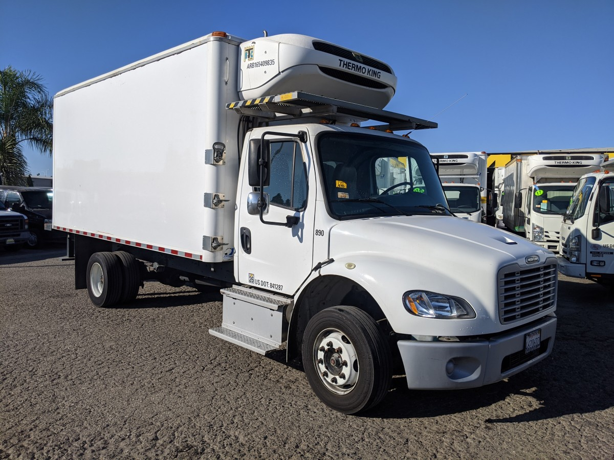 Used 2017 Freightliner M2 106 16FT Refrigeration Reefer Box Truck DIESEL in Fountain Valley, CA