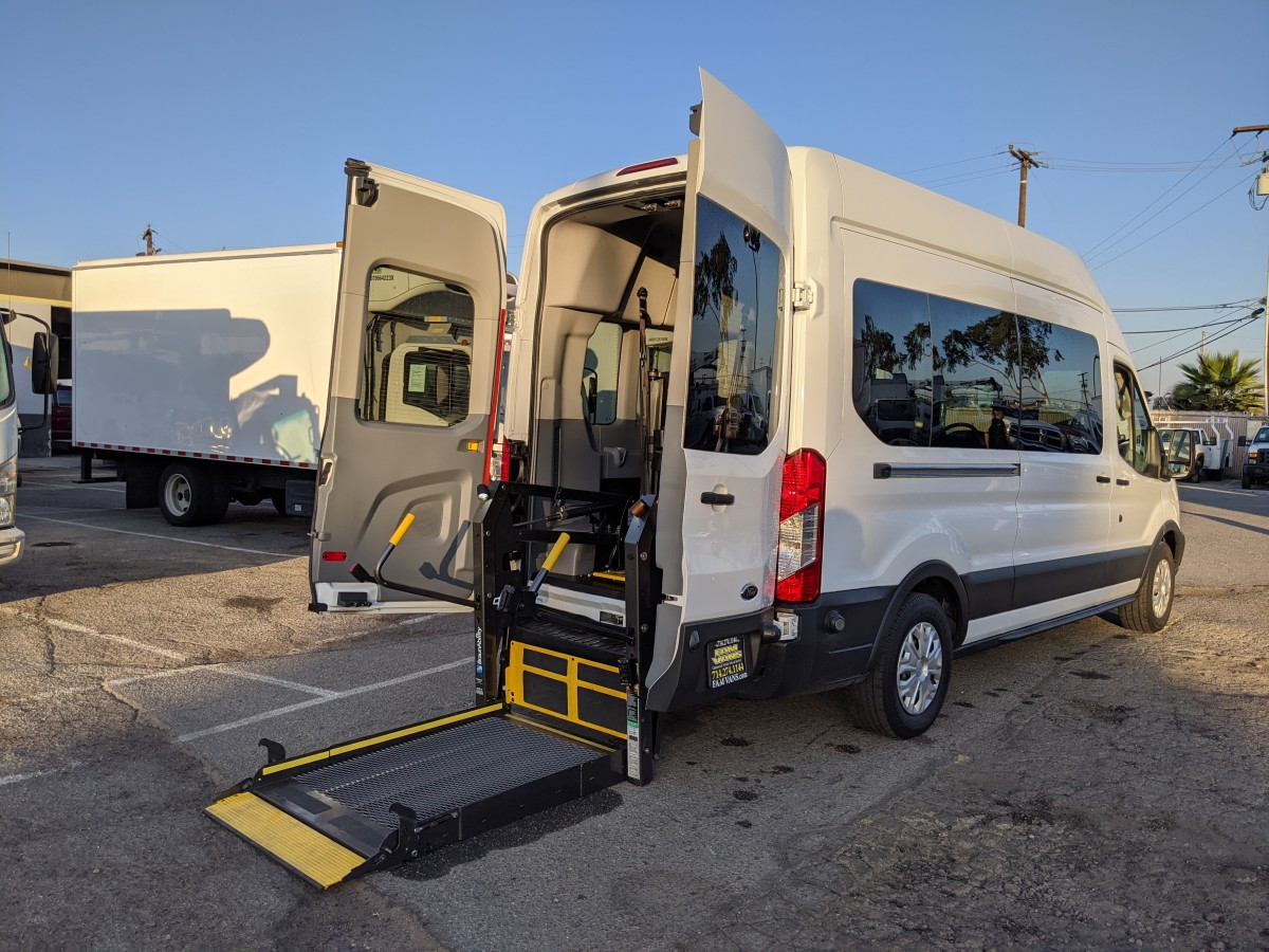 Used 2017 Ford Transit-350 Long High Roof Wheelchair Access Handicap Van in Fountain Valley, CA