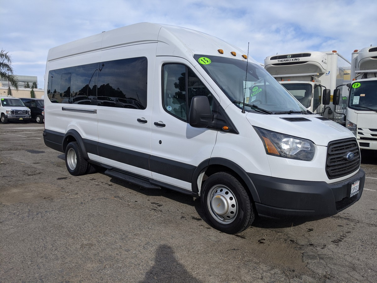 Used 2015 Ford Transit-350 HD  Extended Long High Roof Passenger Van XL ECOBOOST in Fountain Valley, CA