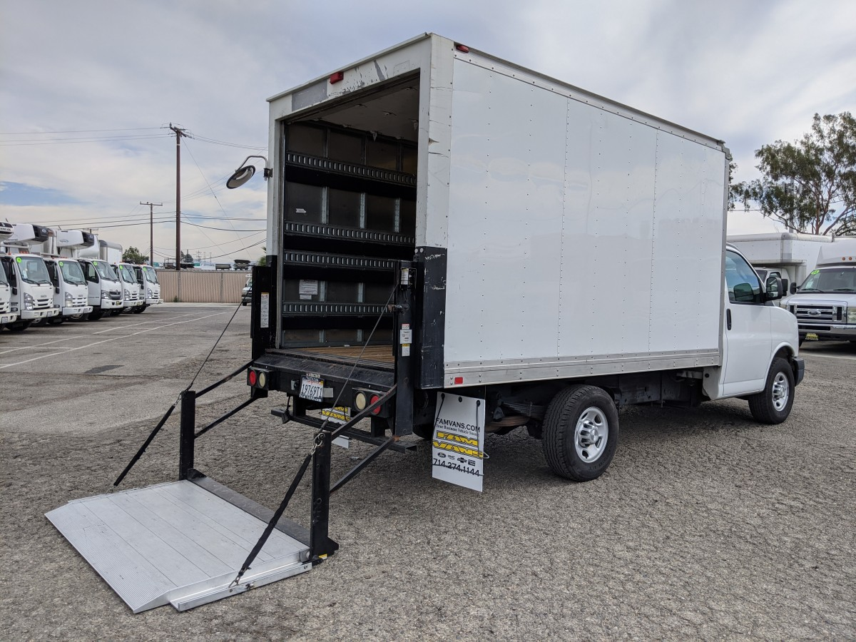 Used 2016 Chevrolet Express 3500 12FT Box Truck with Liftgate in Fountain Valley, CA