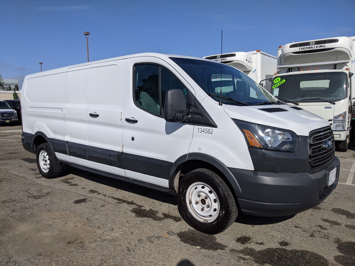 Used 2015 Ford Transit-250 Extended Low Roof Cargo Van with Bulkhead in Fountain Valley, CA