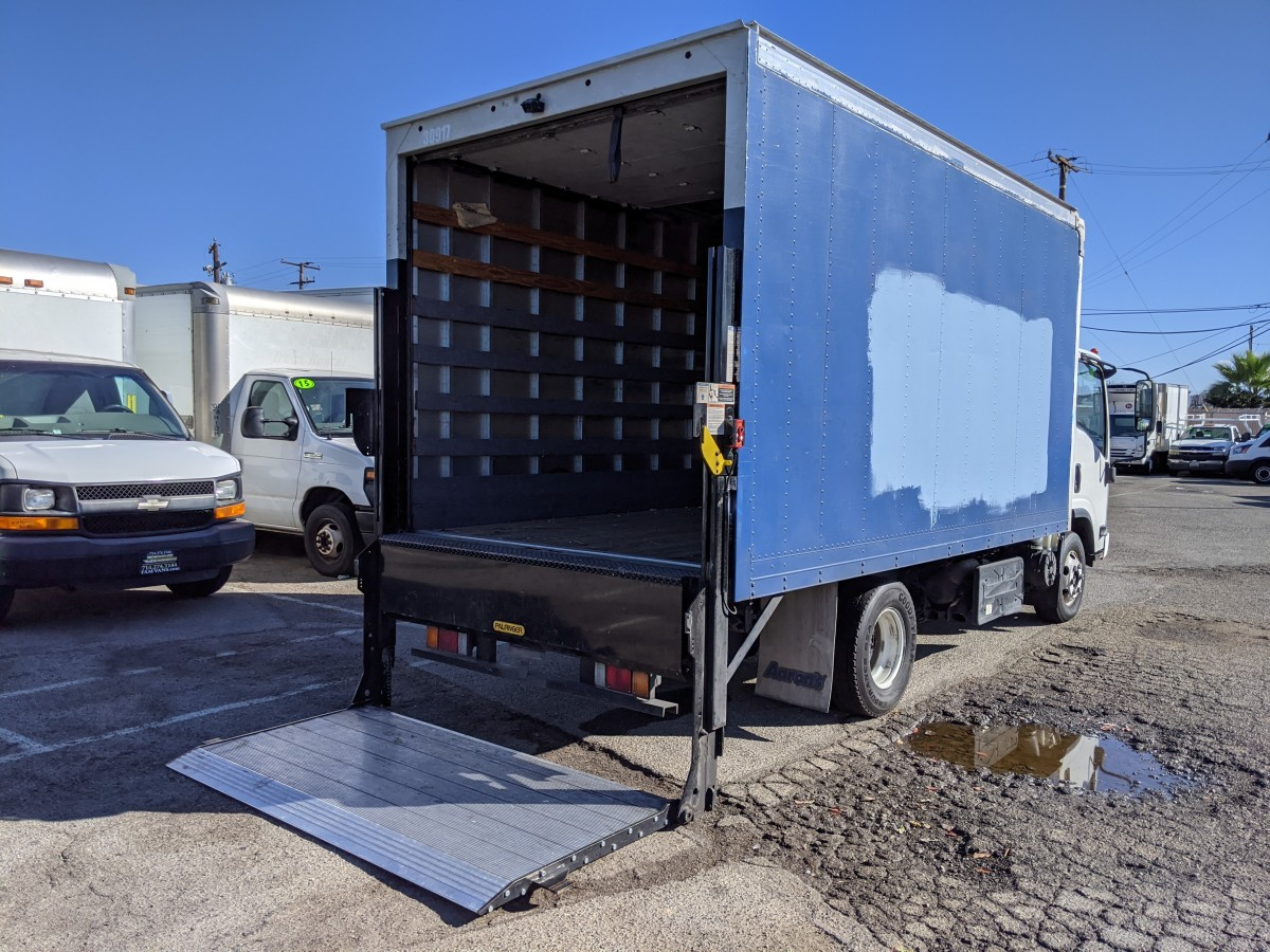 Used 2013 Isuzu NPR 14FT Box Truck with Liftgate DIESEL in Fountain Valley, CA