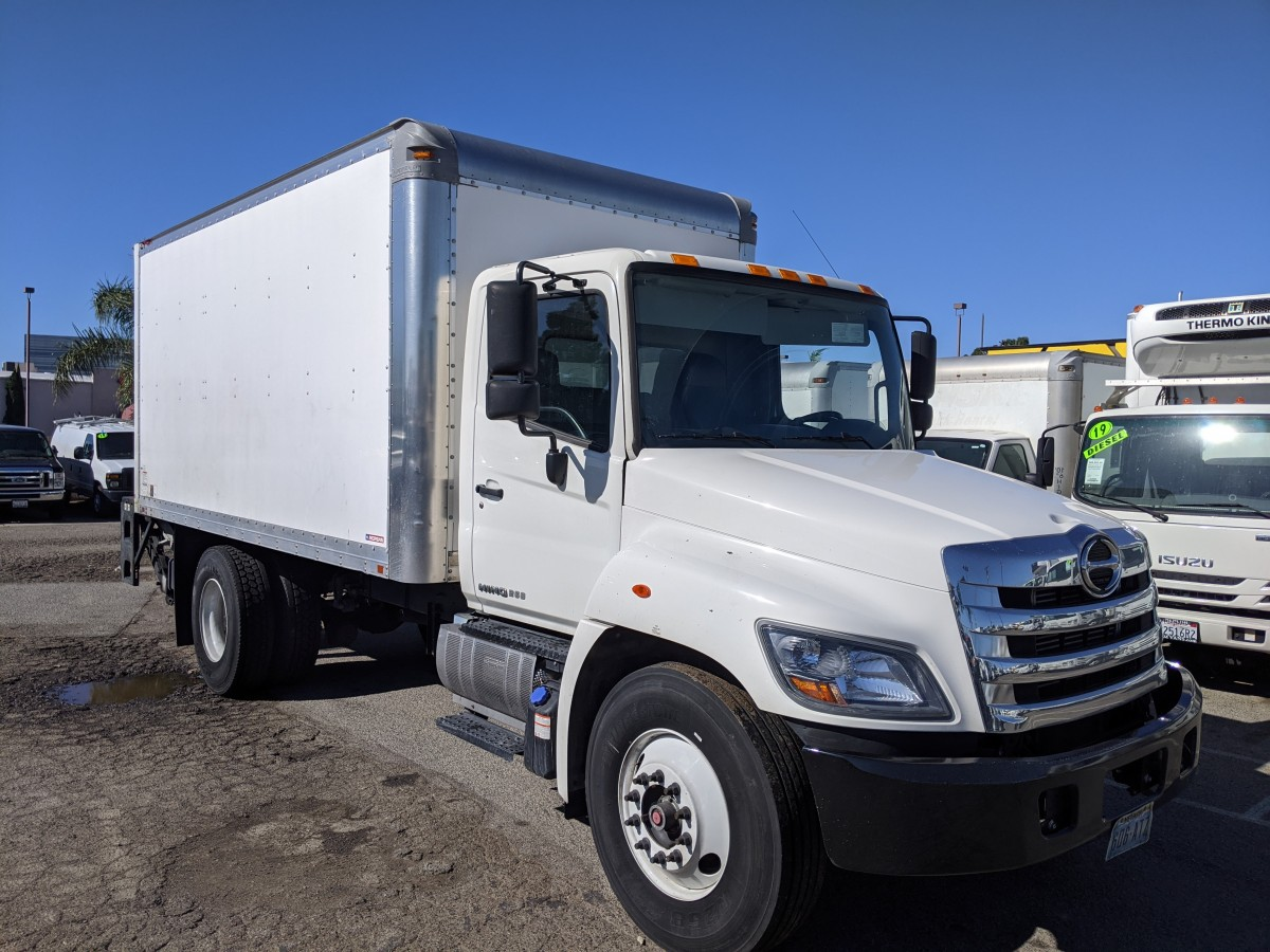 Used 2015 Hino 268A 16FT Box Truck DIESEL in Fountain Valley, CA