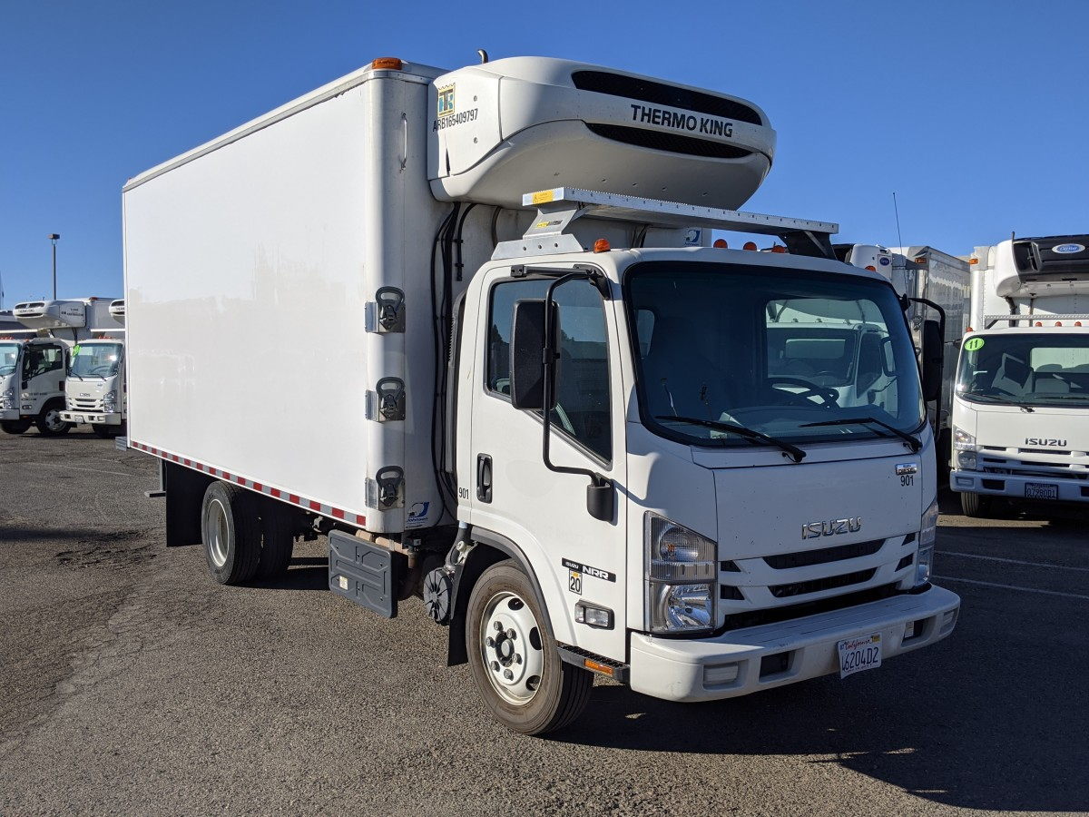 Used 2017 Isuzu NRR 16FT Refrigeration Reefer Box Truck DIESEL in Fountain Valley, CA