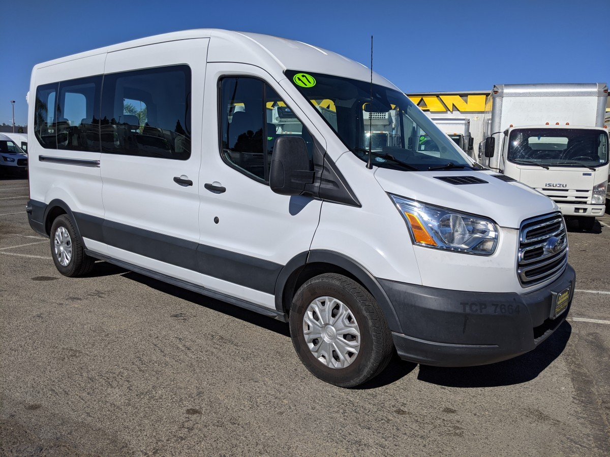 Used 2017 Ford Transit-350 Extended Mid Roof Passenger Van XLT in Fountain Valley, CA