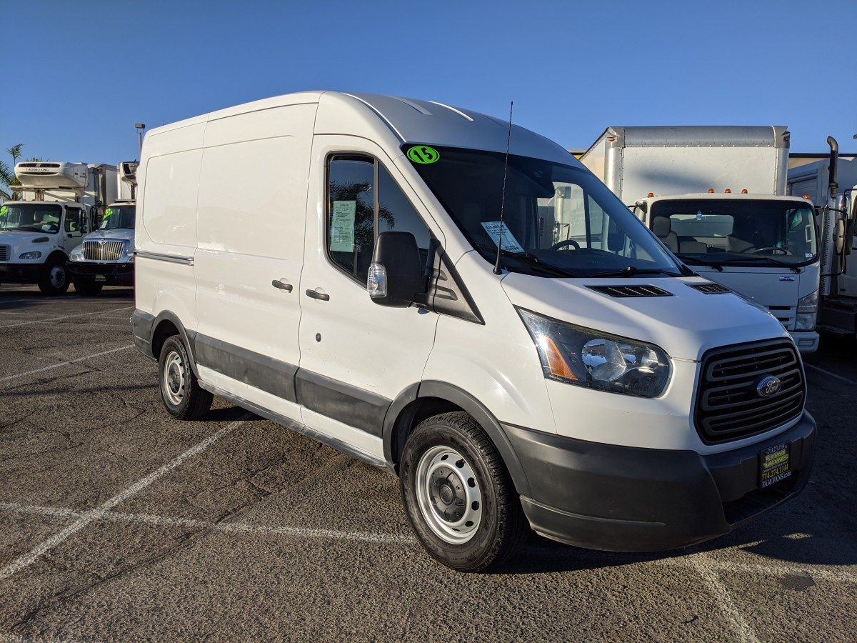 Used 2015 Ford Transit-150 Mid Roof Utility Cargo Van in Fountain Valley, CA