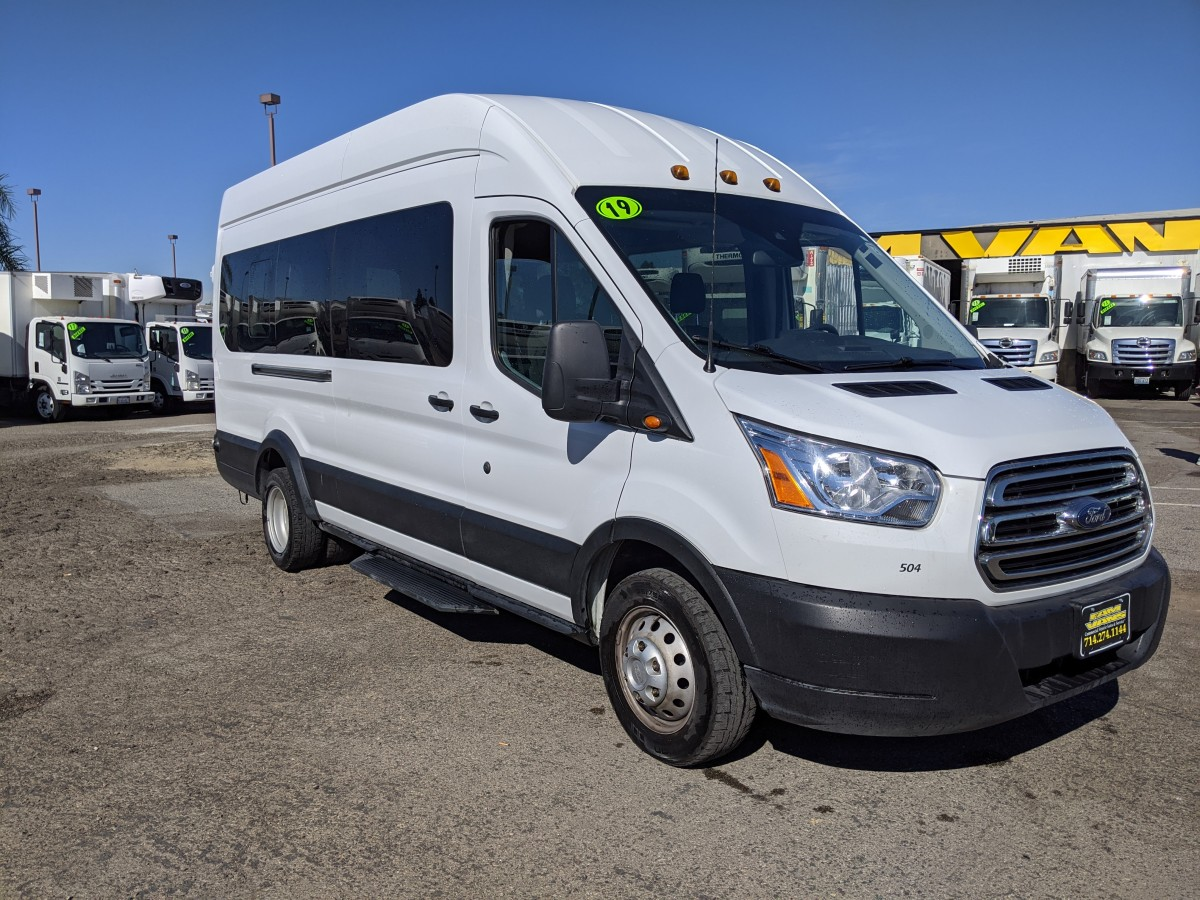 Used 2019 Ford Transit-350 HD  Extended Long High Roof Passenger Van ECOBOOST in Fountain Valley, CA