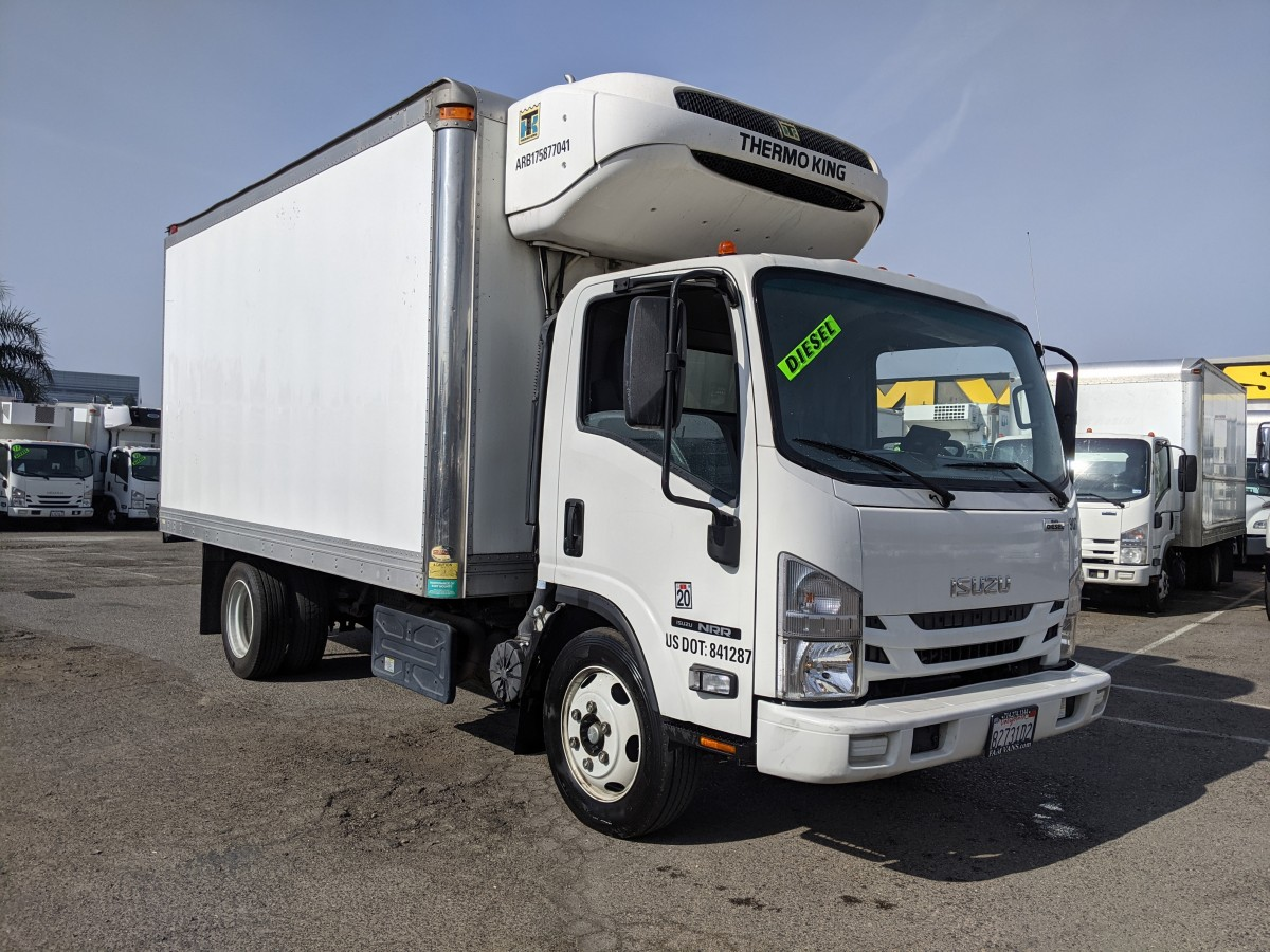 Used 2017 Isuzu NRR 14FT Refrigeration Reefer Box Truck DIESEL in Fountain Valley, CA