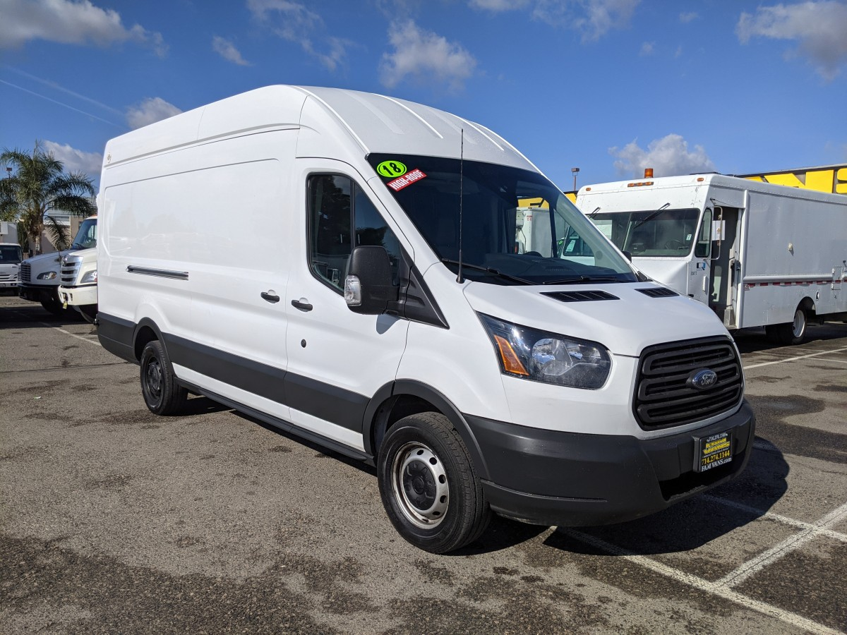 Used 2018 Ford Transit-250 ECO BOOST Extended Long High Roof Cargo Van in Fountain Valley, CA