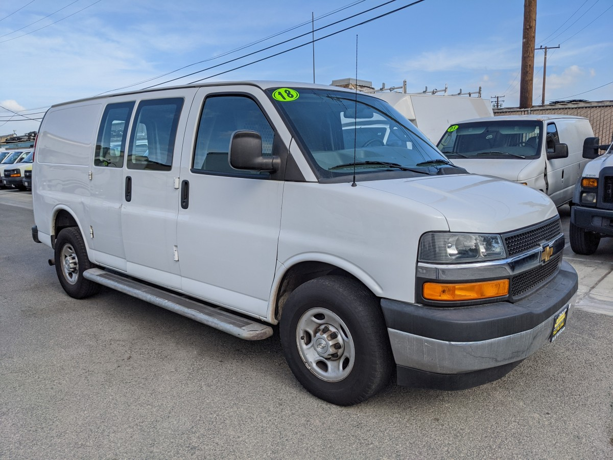 Used 2018 Chevrolet Express 2500 Cargo Van with Bulkhead in Fountain Valley, CA