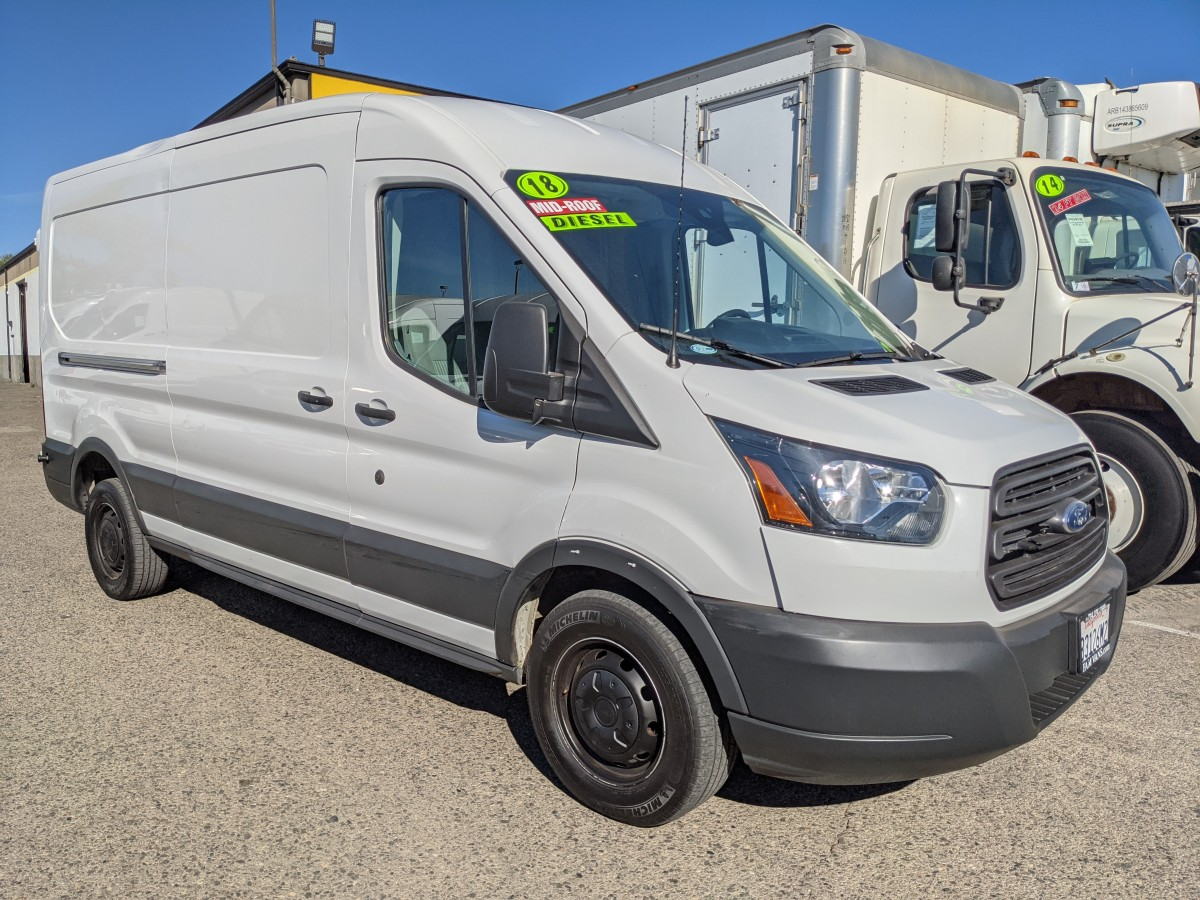 Used 2018 Ford Transit-250 Long Mid Roof Cargo Van DIESEL in Fountain Valley, CA