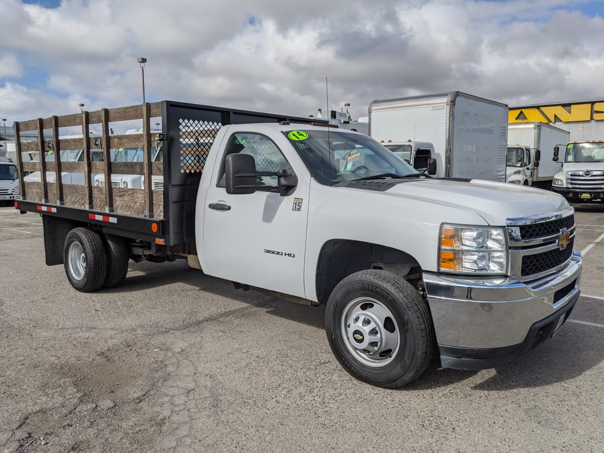 Used 2014 Chevrolet Silverado 3500 12FT Stake Bed Truck in Fountain Valley, CA