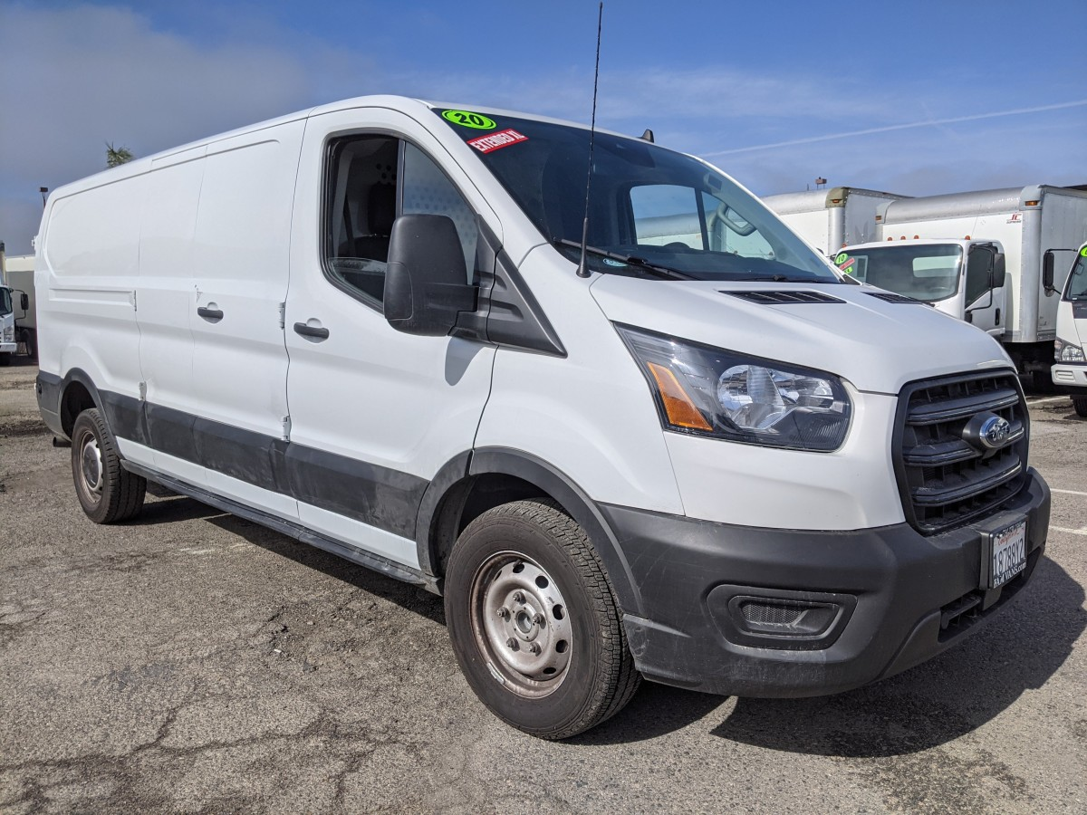 Used 2020 Ford Transit-250 Long Low Roof Cargo Van with Bulkhead in Fountain Valley, CA