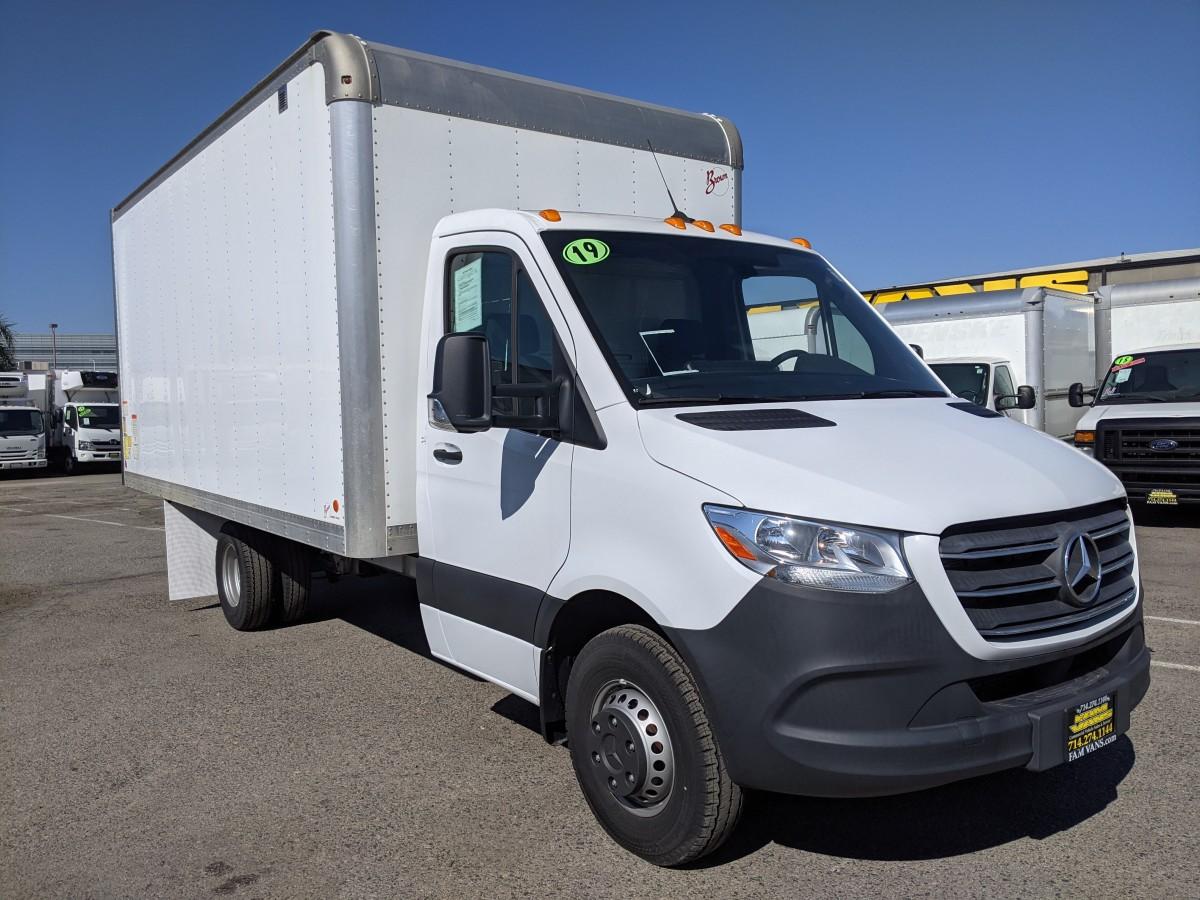 Used 2019 Mercedes-Benz Sprinter 3500 16FT Box Truck DIESEL in Fountain Valley, CA