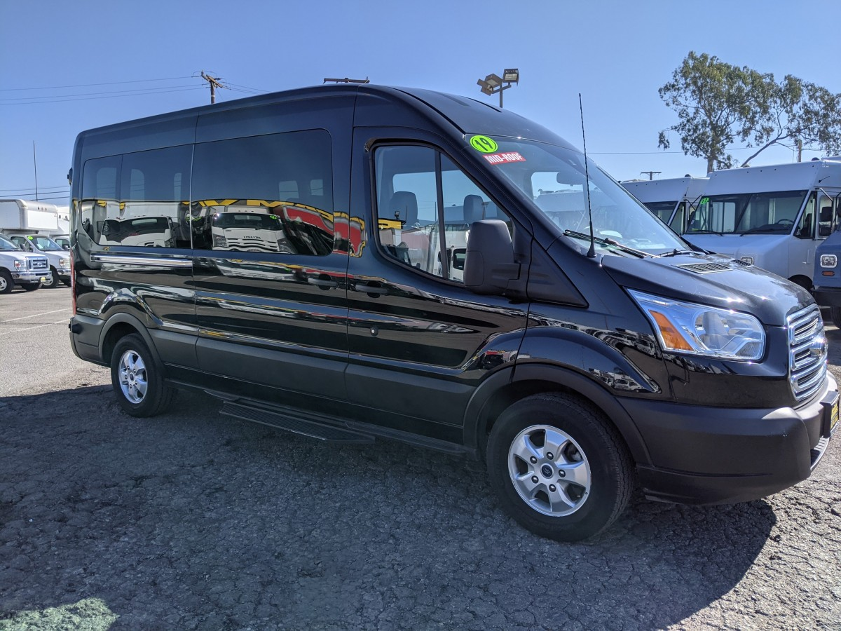 Used 2019 Ford Transit-350 Long Mid Roof Passenger Van XLT ECOBOOST in Fountain Valley, CA