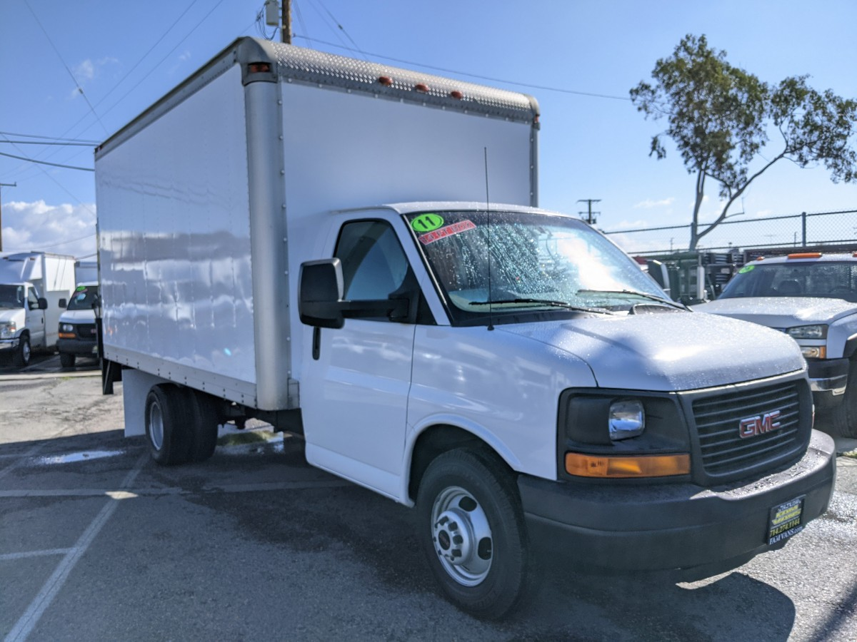 Used 2011 GMC Savana 3500 14FT Box Truck with Liftgate in Fountain Valley, CA