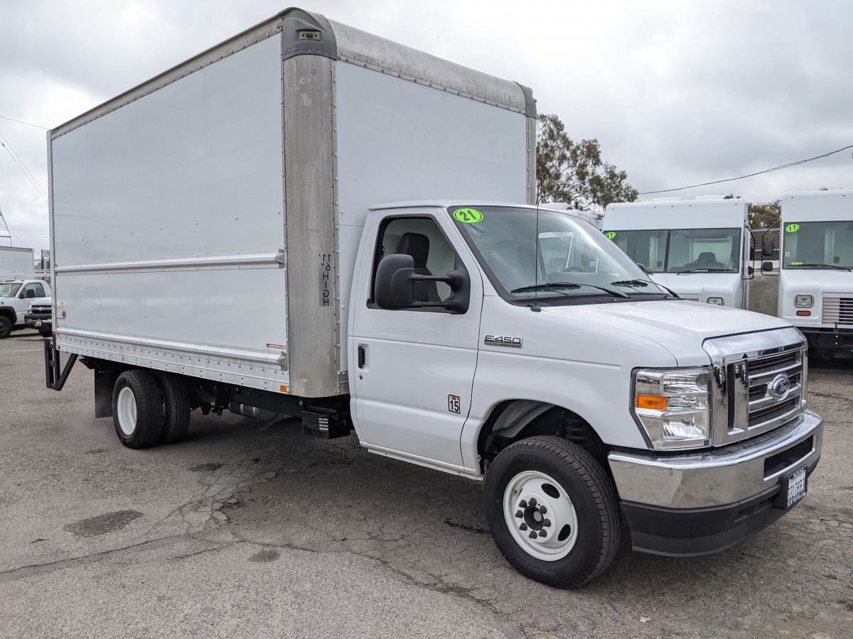 Used 2021 Ford E-450 16FT Box Truck with Liftgate in Fountain Valley, CA