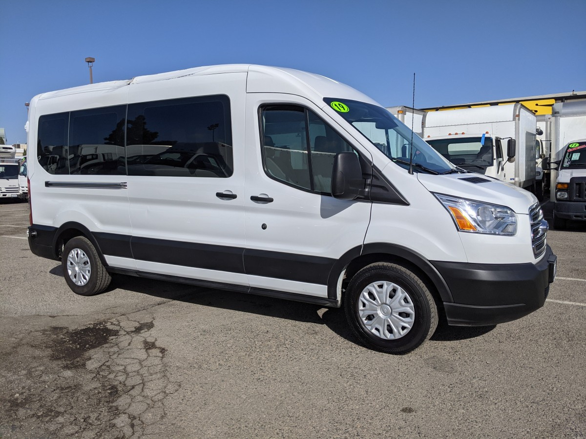 Used 2019 Ford Transit-350 Long Mid Roof Passenger Van XLT in Fountain Valley, CA