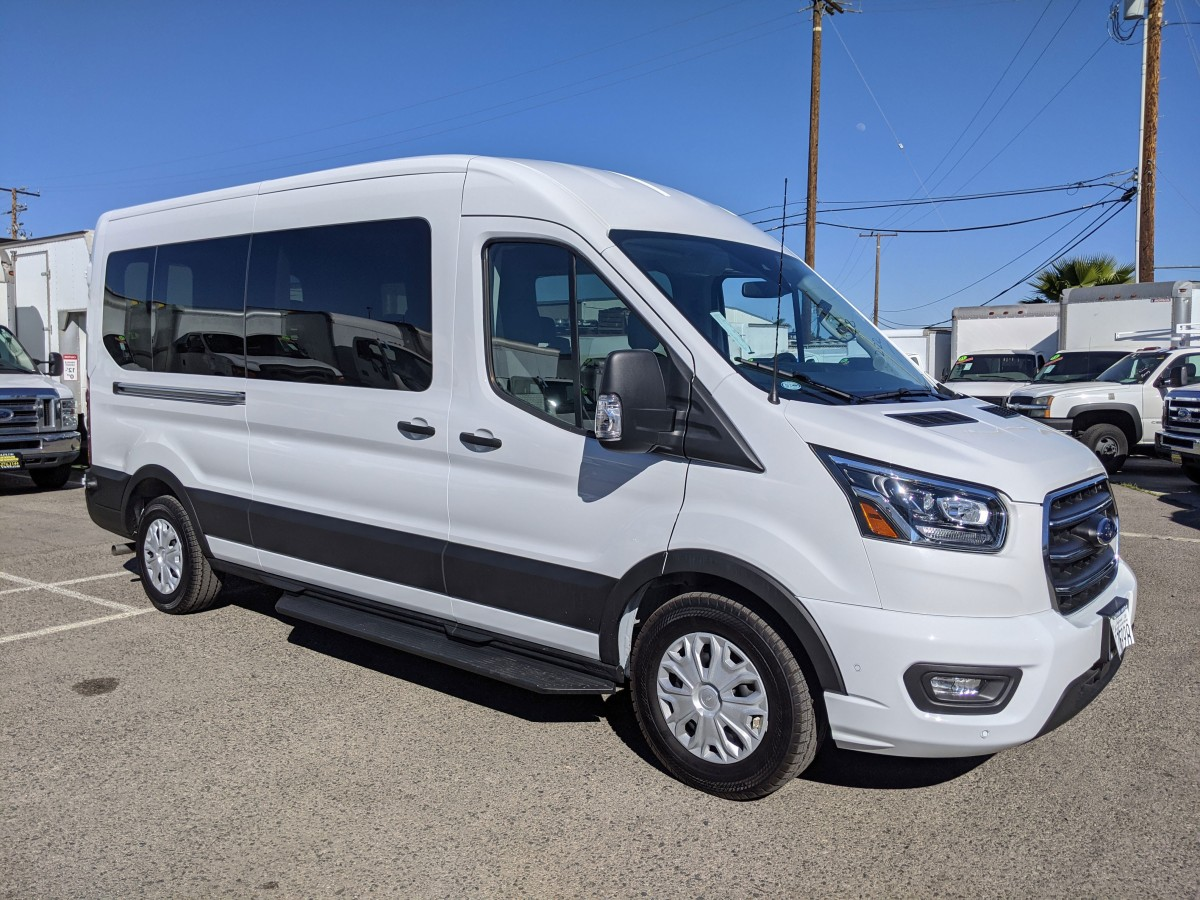Used 2020 Ford Transit-350 ECOBOOST Long Mid Roof Passenger Van XLT in Fountain Valley, CA