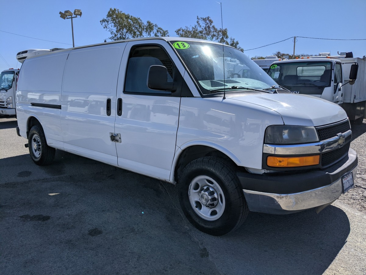 Used 2013 Chevrolet Express 3500 Extended Cargo Van with Bulkhead in Fountain Valley, CA