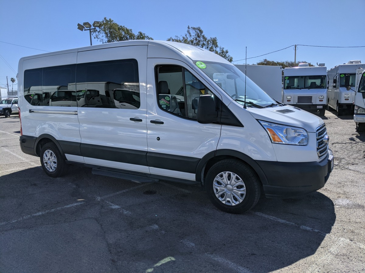 Used 2018 Ford Transit-350 Long Mid Roof Passenger Van in Fountain Valley, CA