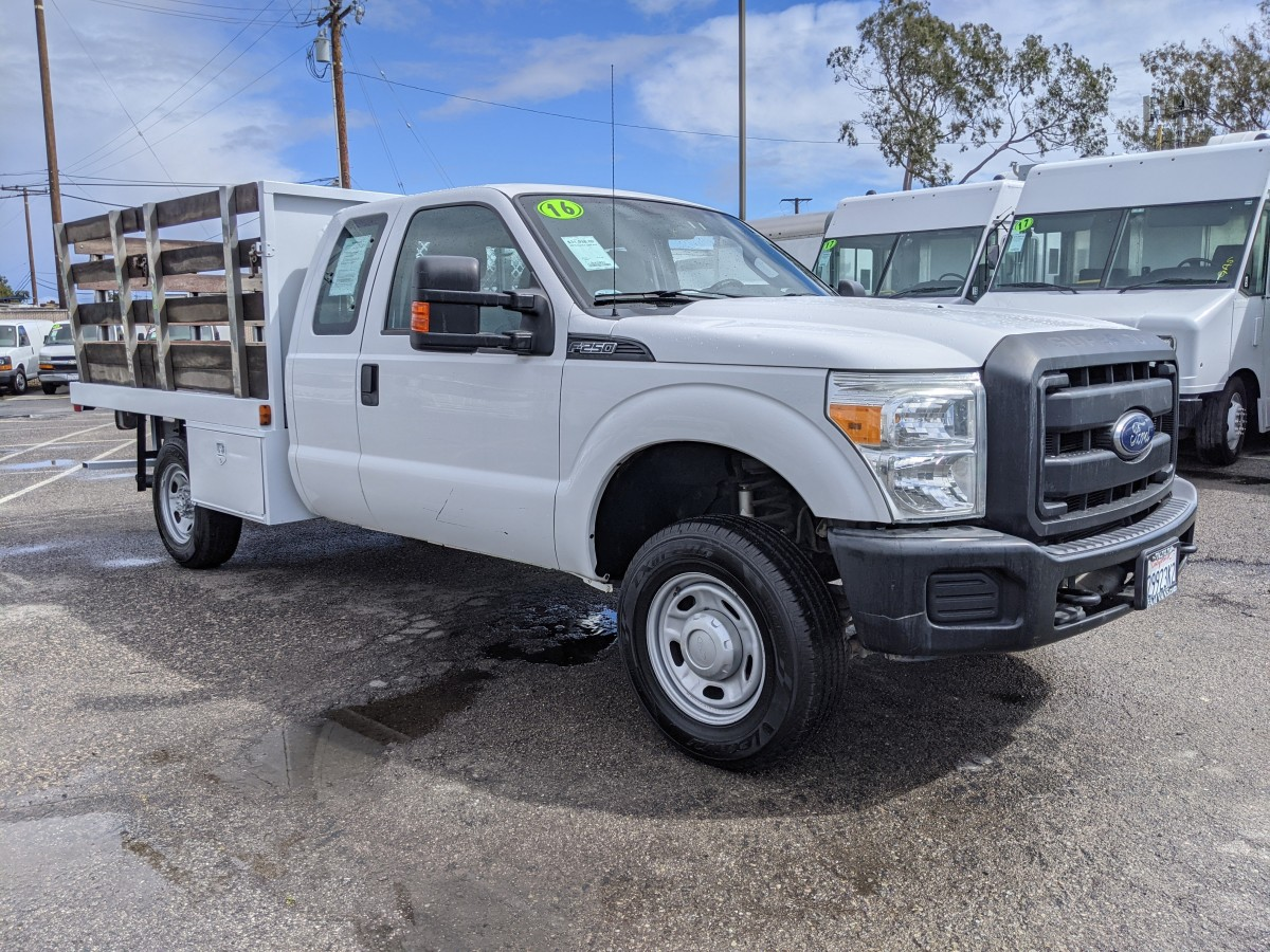 Used 2016 Ford F-250 4x4 9FT Stake Bed Truck 4WD in Fountain Valley, CA
