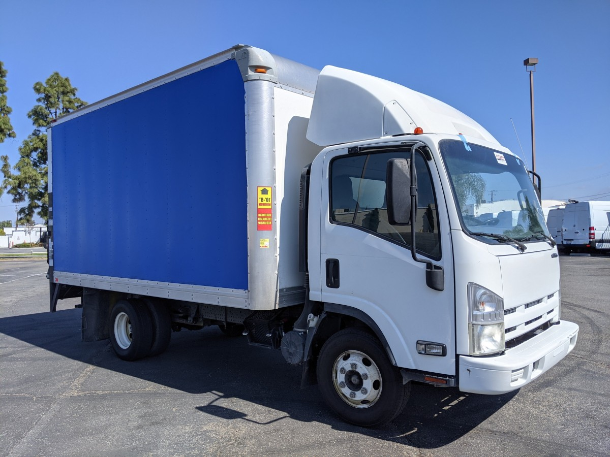 Used 2014 Isuzu NPR 14FT Box Truck with Liftgate in Fountain Valley, CA