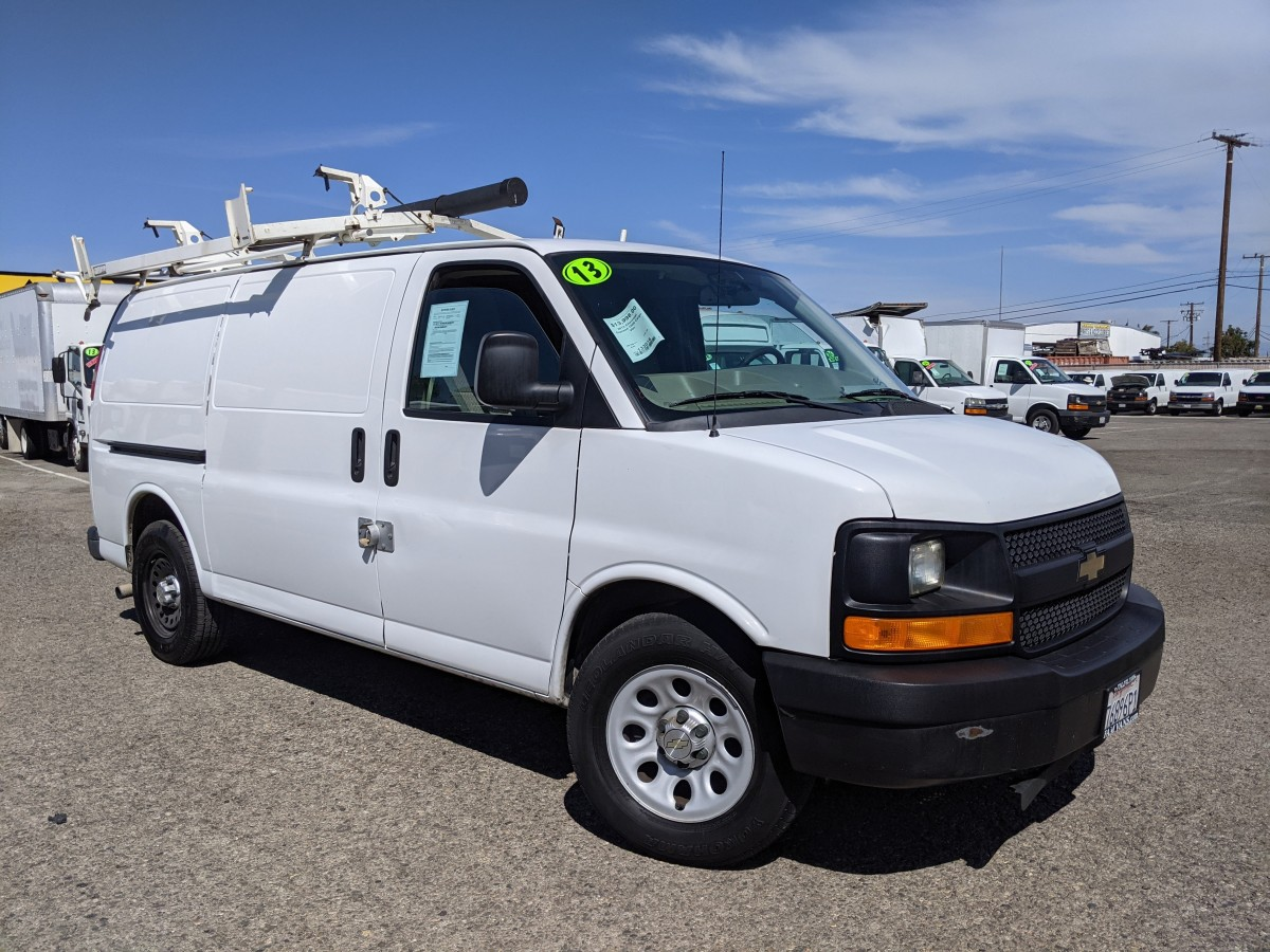Used 2013 Chevrolet Express 1500 Cargo Van with Roof Rack in Fountain Valley, CA
