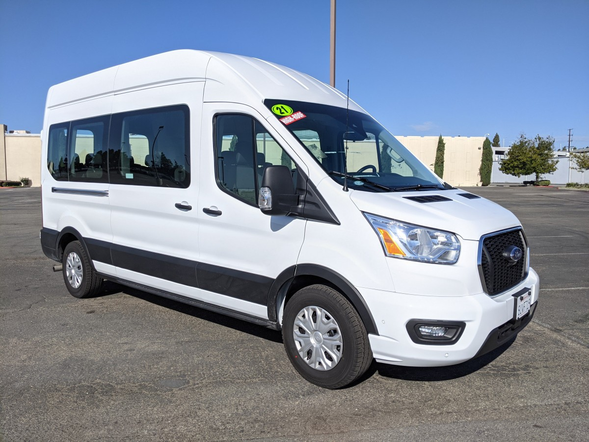 Used 2021 Ford Transit-350 Long High Roof Passenger Van XLT in Fountain Valley, CA